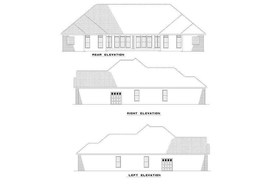 Home Plan Rear Elevation of this 3-Bedroom,1504 Sq Ft Plan -153-1014