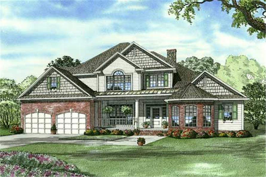 4-Bedroom, 3343 Sq Ft Arts and Crafts House Plan - 153-1017 - Front Exterior