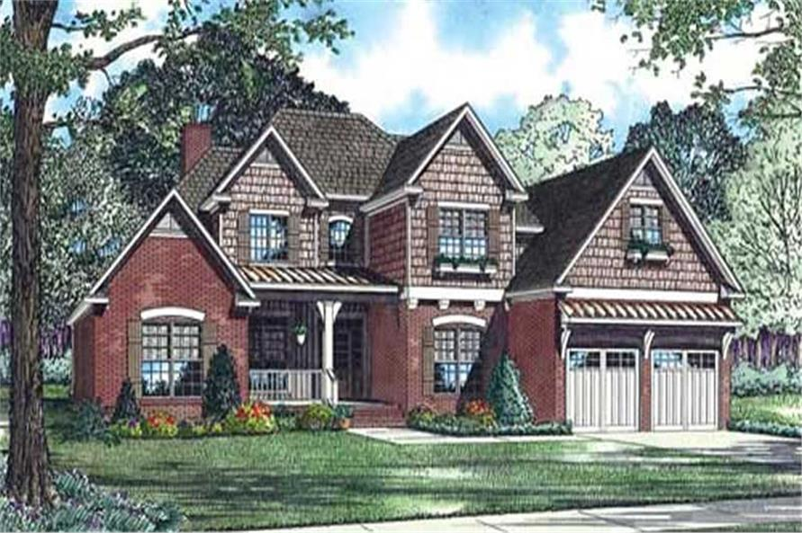 4-Bedroom, 2952 Sq Ft Craftsman House Plan - 153-1019 - Front Exterior