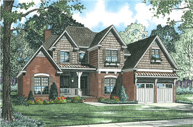 4-Bedroom, 2952 Sq Ft Country Home Plan - 153-1019 - Main Exterior