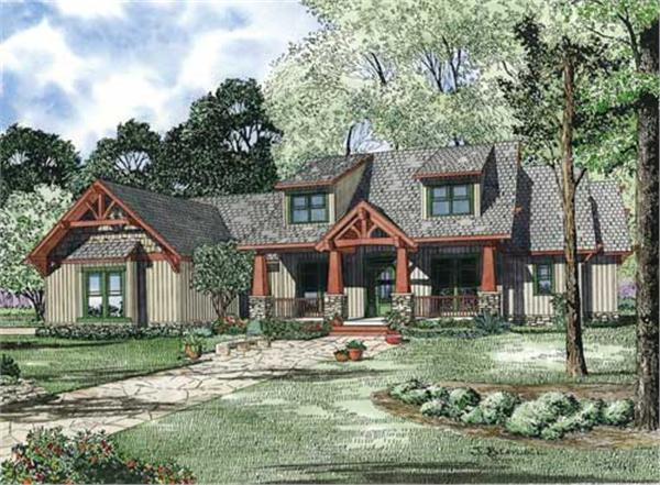 This is an artist's rendering of these Craftsman Homeplans.