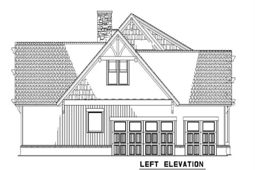 153-1020 house plan left elevation