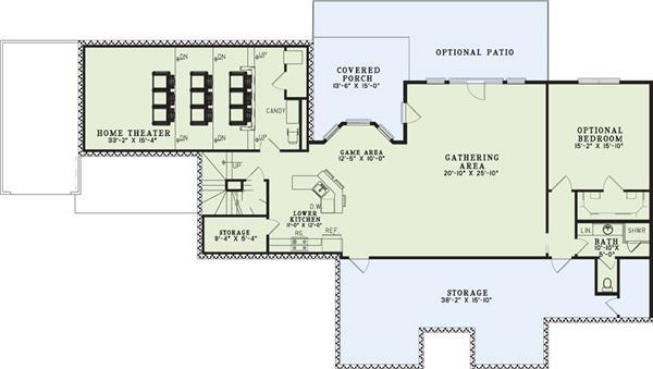 153-1021: Floor Plan Basement