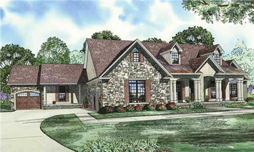 Main image for house plan # 17555
