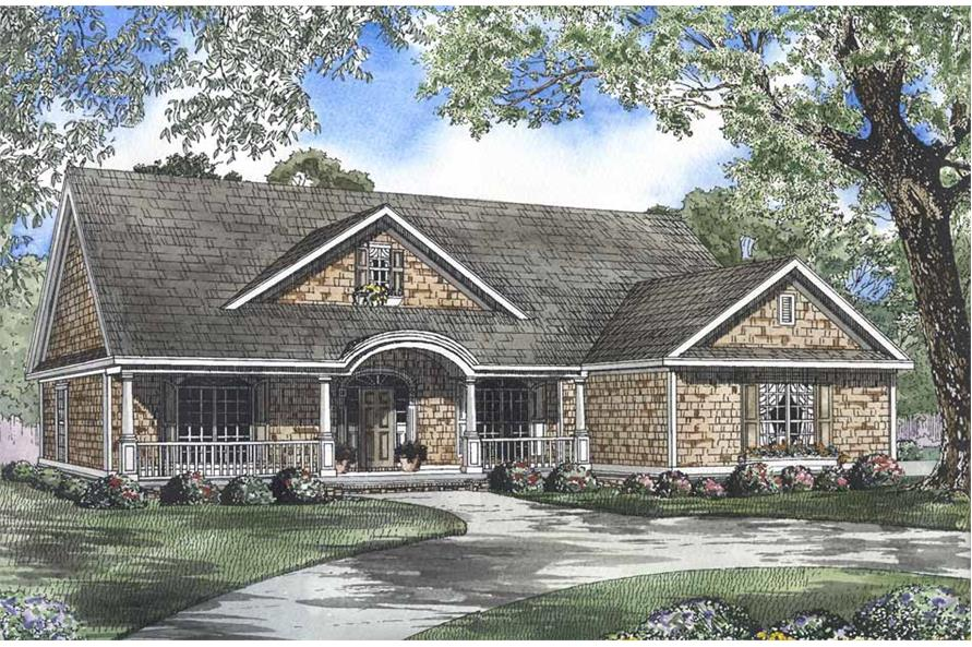 4-Bedroom, 2338 Sq Ft Country House Plan - 153-1022 - Front Exterior