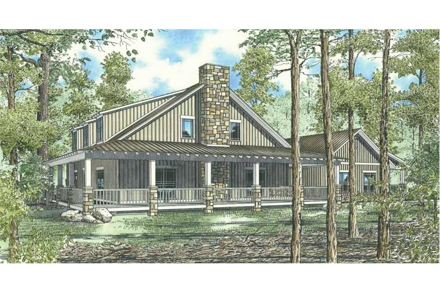 Home Plan Right Elevation of this 10-Bed,4134 Sq Ft Plan -153-1023