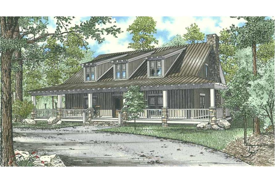 10-Bed, 4134 Sq Ft Lowcountry Lodge - 153-1023 - Front Exterior