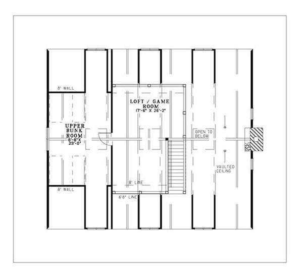 House Plan NDG-1130 Second Floor Plan