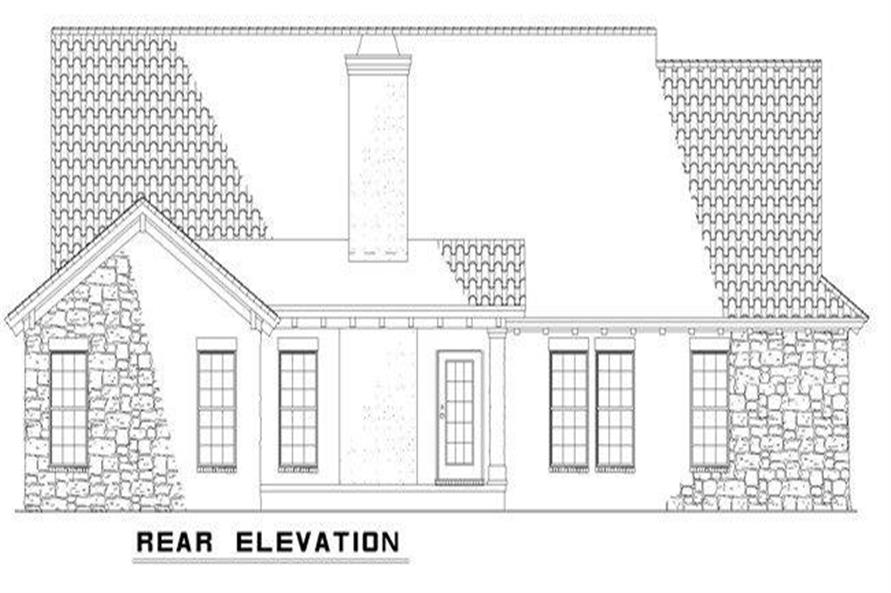 Home Plan Rear Elevation of this 3-Bedroom,2256 Sq Ft Plan -153-1024