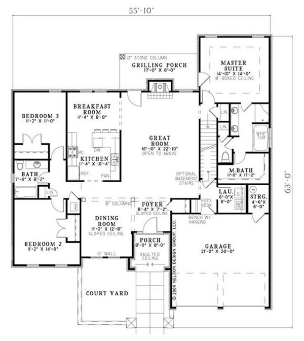 House Plan NDG-1132 Main Floor Plan