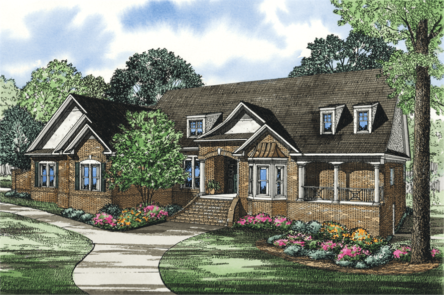4-Bedroom, 4886 Sq Ft French Country Home Plan - 153-1025 - Main Exterior
