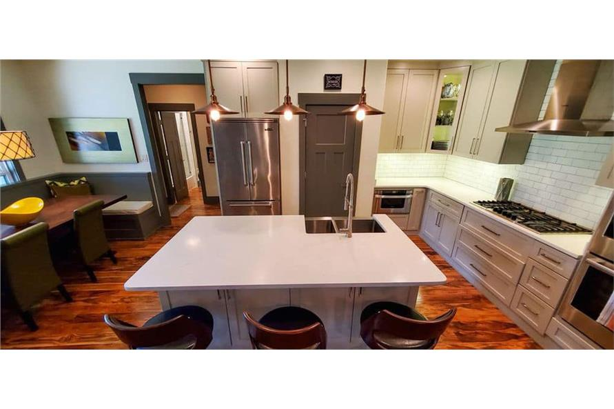 Kitchen: Breakfast Bar of this 4-Bedroom,3206 Sq Ft Plan -153-1029