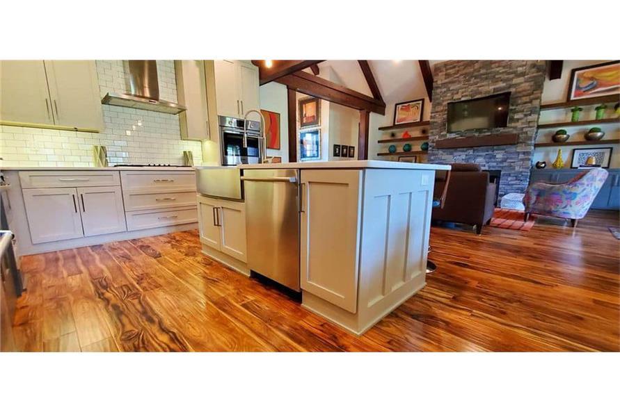 Kitchen: Kitchen Island of this 4-Bedroom,3206 Sq Ft Plan -153-1029