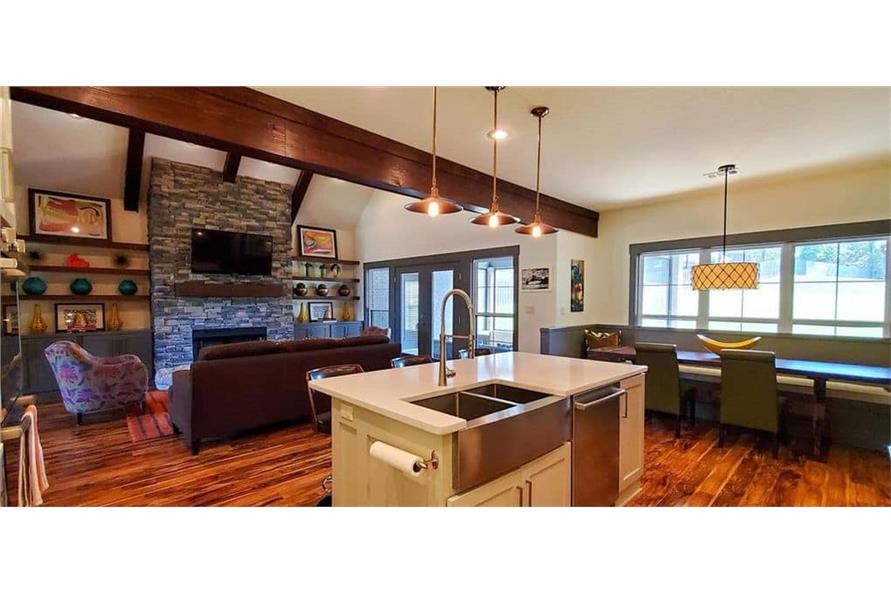 Great Room of this 4-Bedroom,3206 Sq Ft Plan -153-1029