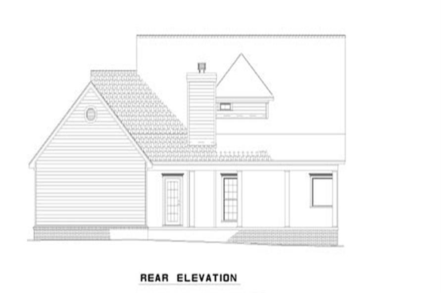 153-1030: Home Plan Rear Elevation