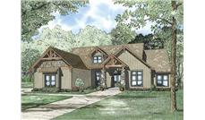 This is an artist's rendering of these classic Craftsman House Plans.