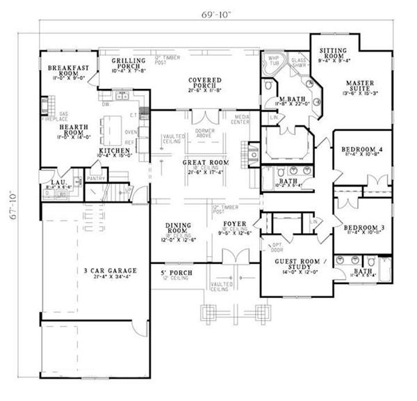 153-1031: Floor Plan Main Level
