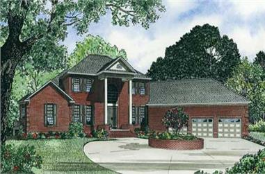5-Bedroom, 5050 Sq Ft Colonial Home Plan - 153-1034 - Main Exterior