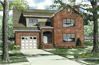 3-Bedroom, 3202 Sq Ft Southern House Plan - 153-1035 - Front Exterior