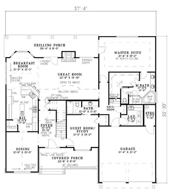 153-1036: Floor Plan Main Level