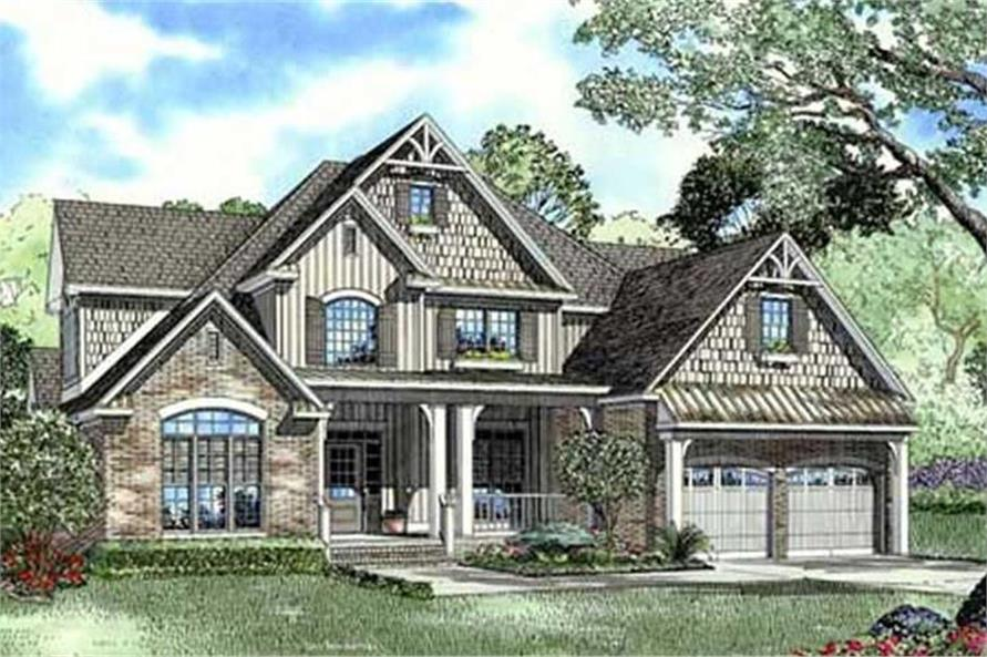 4-Bedroom, 2755 Sq Ft Craftsman House Plan - 153-1036 - Front Exterior