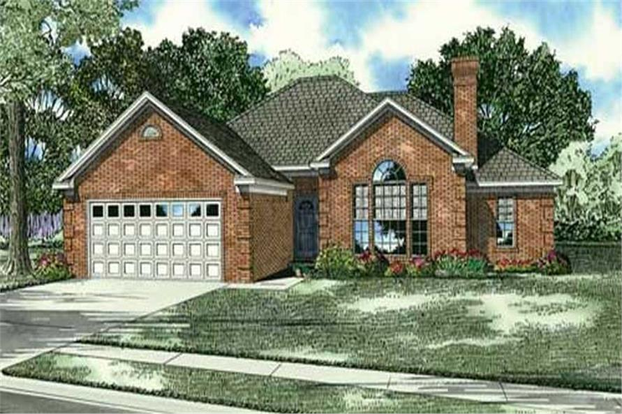 3-Bedroom, 1764 Sq Ft Home Plan - 153-1038 - Main Exterior