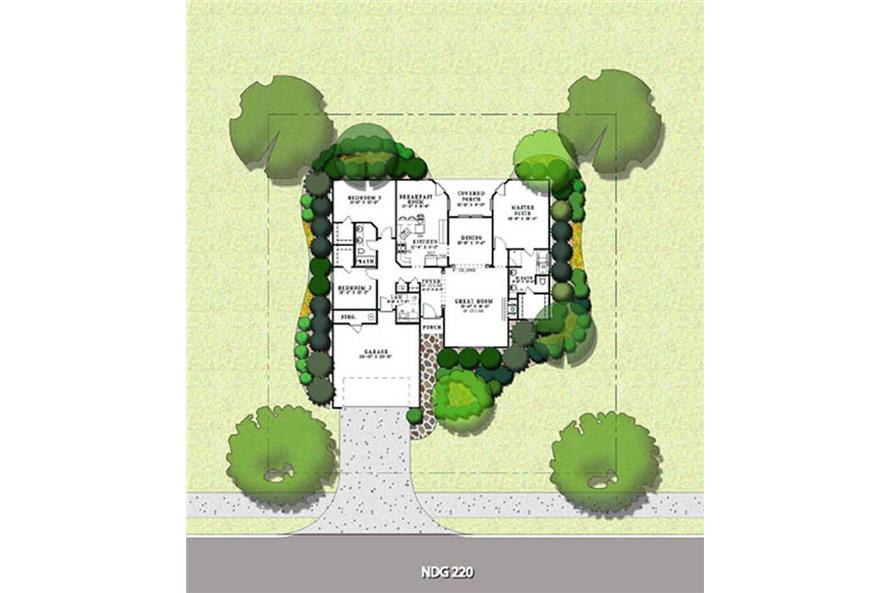 Home Plan Aux Image of this 3-Bedroom,1764 Sq Ft Plan -153-1038