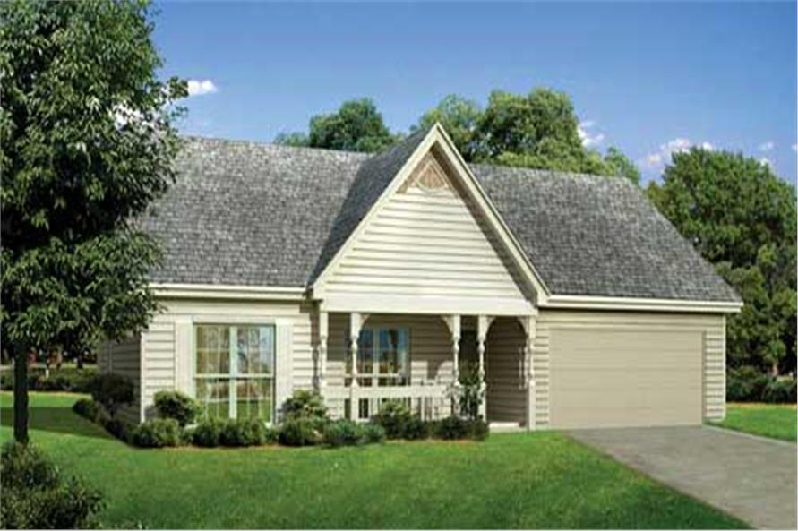3-Bedroom, 1746 Sq Ft Country House Plan - 153-1039 - Front Exterior