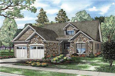 3-Bedroom, 1588 Sq Ft Country Home Plan - 153-1040 - Main Exterior