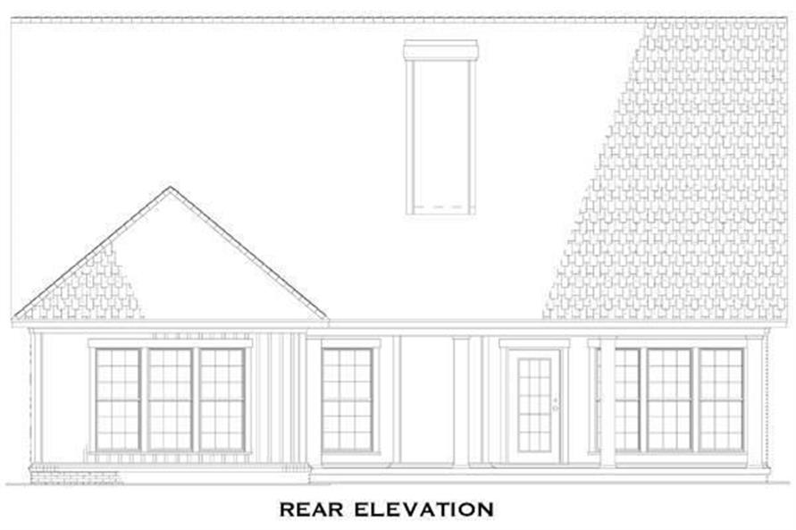 Home Plan Rear Elevation of this 3-Bedroom,1588 Sq Ft Plan -153-1040