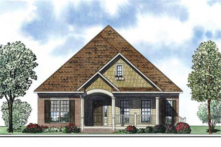This is an artist's rendering of these Bungalow House Plans.