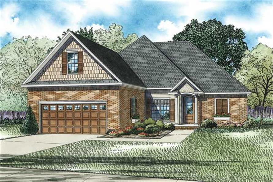 Here is an artist's rendering of these Small House Plans.