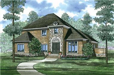 5-Bedroom, 3578 Sq Ft European House Plan - 153-1049 - Front Exterior