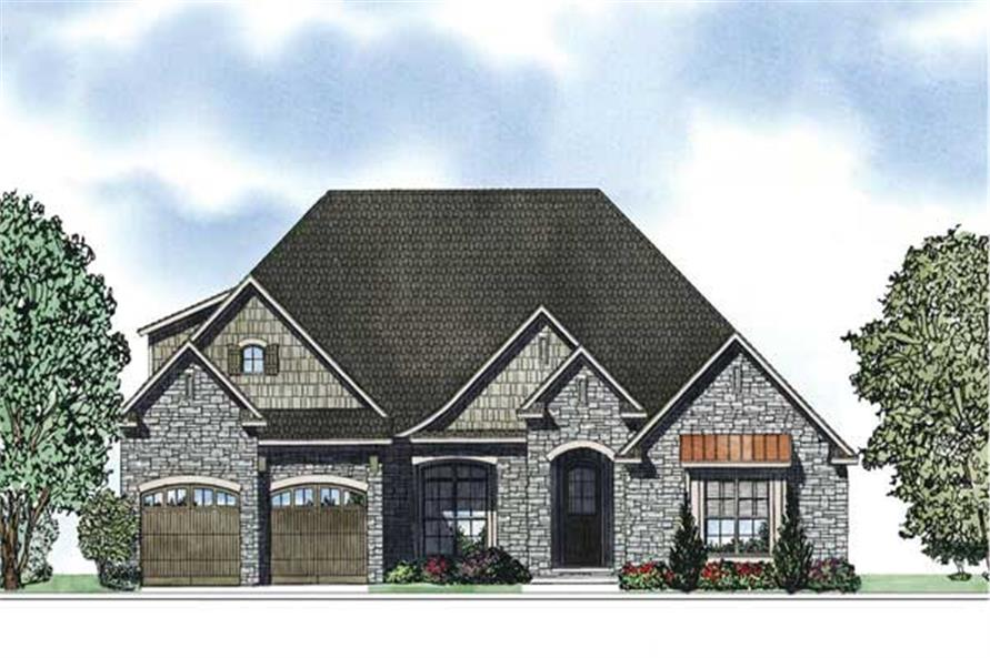 This is an artist's rendering for these European House Plans