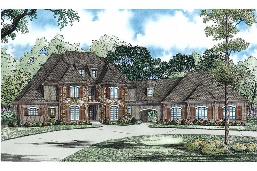 153-1054: Home Plan Rendering-Front View