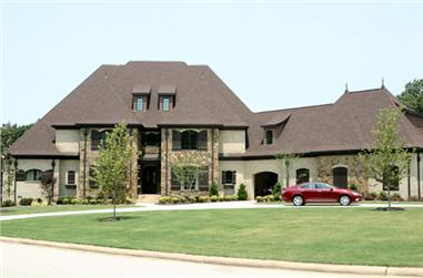 4-Bedroom, 5100 Sq Ft European House Plan - 153-1054 - Front Exterior