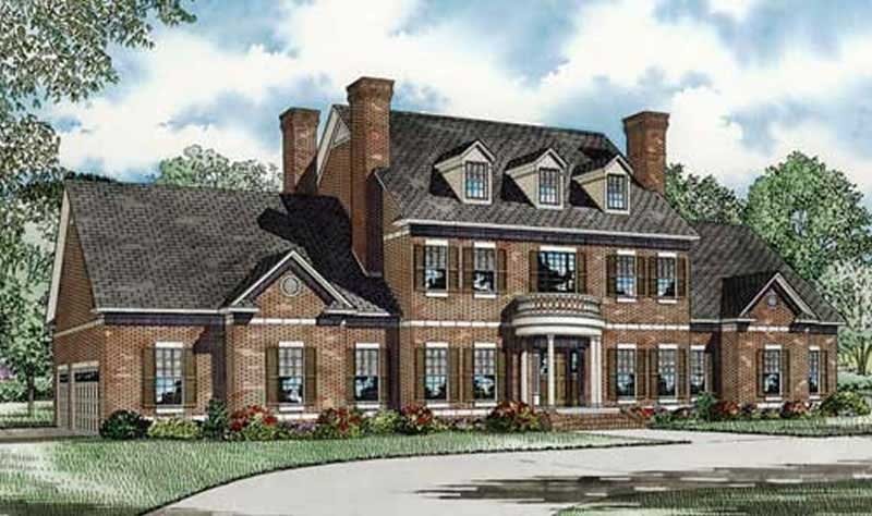 Colonial house plan 153 1058 3 bedrm 4996 sq ft home for Colonial home designs