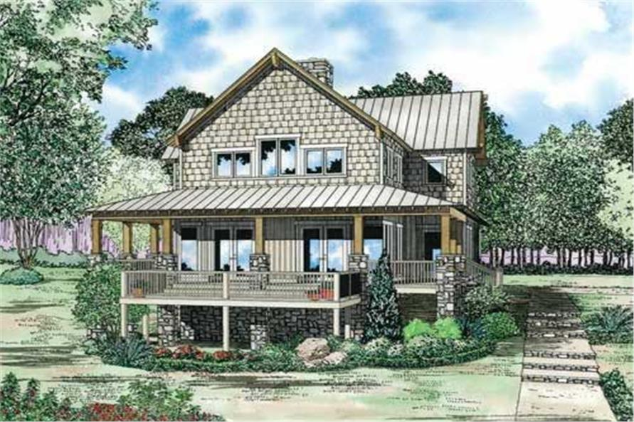 4-Bedroom, 3003 Sq Ft Country Home Plan - 153-1060 - Main Exterior