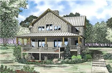 4-Bedroom, 3003 Sq Ft Rustic House Plan - 153-1060 - Front Exterior