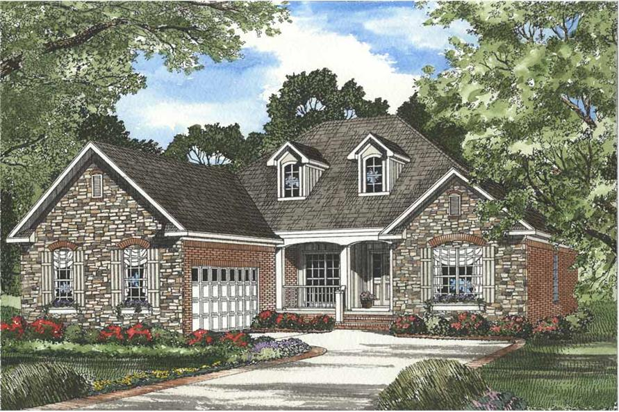 4-Bedroom, 1965 Sq Ft Country House Plan - 153-1061 - Front Exterior