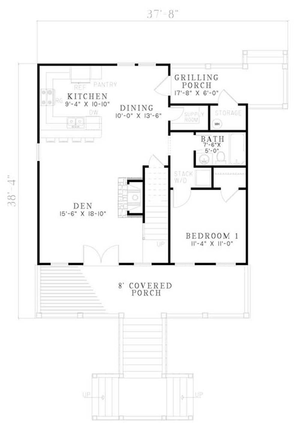 House Plan NDG-1181 Main Floor Plan