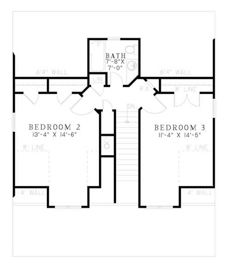 House Plan NDG-1181 Second Floor Plan