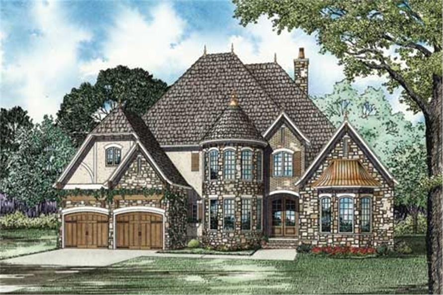 This image shows the Craftsman and Traditional style for this set of house plans.
