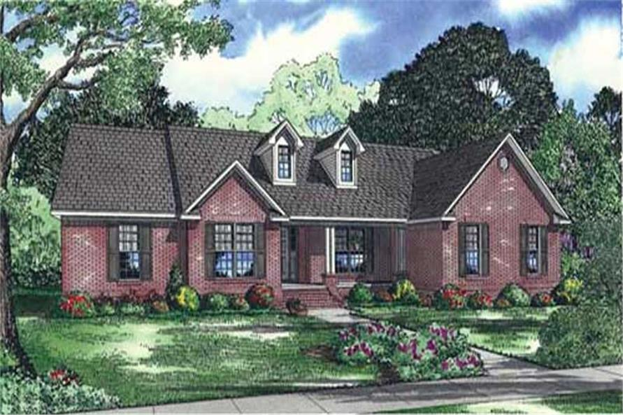 3-Bedroom, 2487 Sq Ft Southern Home Plan - 153-1069 - Main Exterior