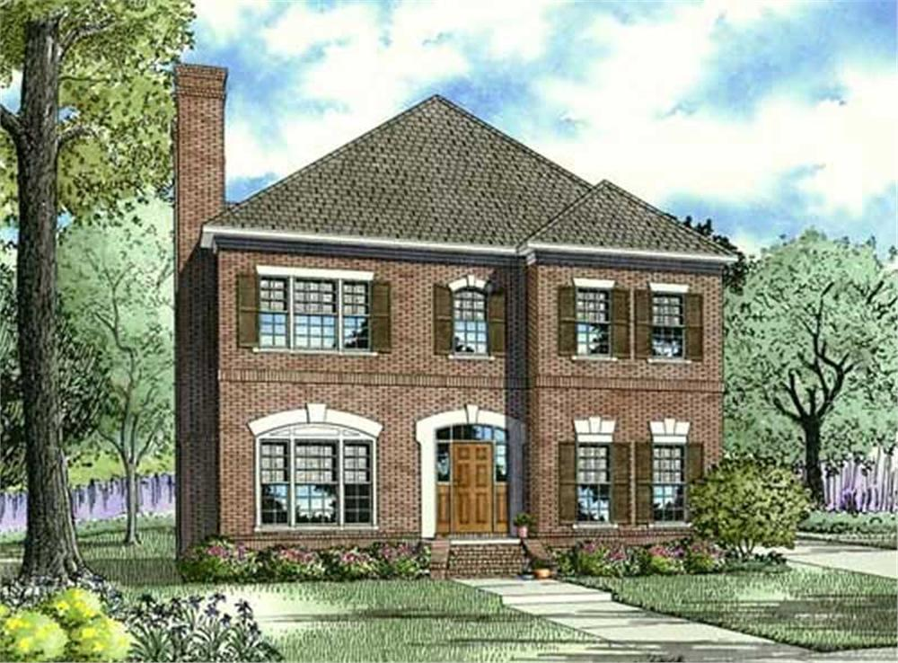 Front elevation of Traditional home (ThePlanCollection: House Plan #153-1071)