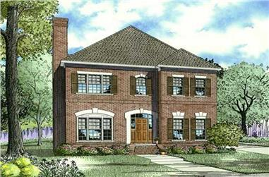3-Bedroom, 2760 Sq Ft Southern House Plan - 153-1071 - Front Exterior