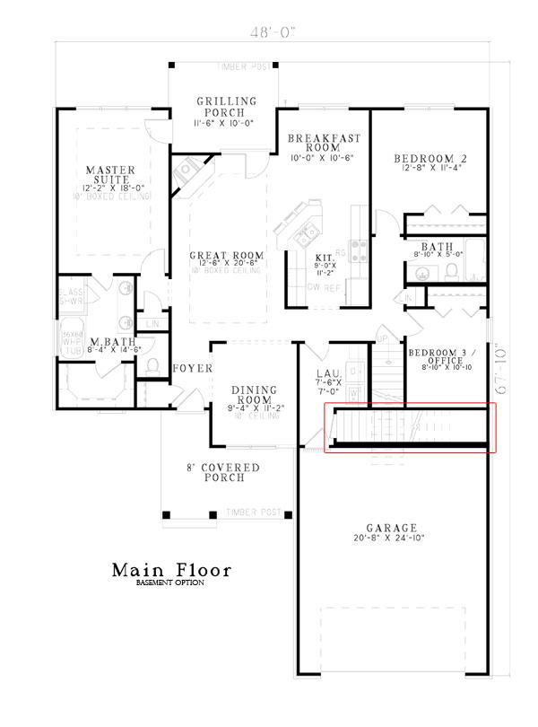 153-1076: Floor Plan Main Level