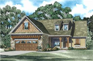 3-Bedroom, 1591 Sq Ft Craftsman House Plan - 153-1076 - Front Exterior