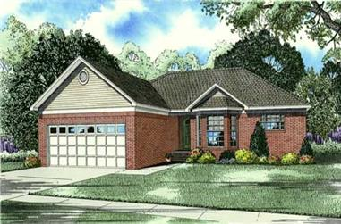 3-Bedroom, 1463 Sq Ft Small House Plans - 153-1079 - Front Exterior