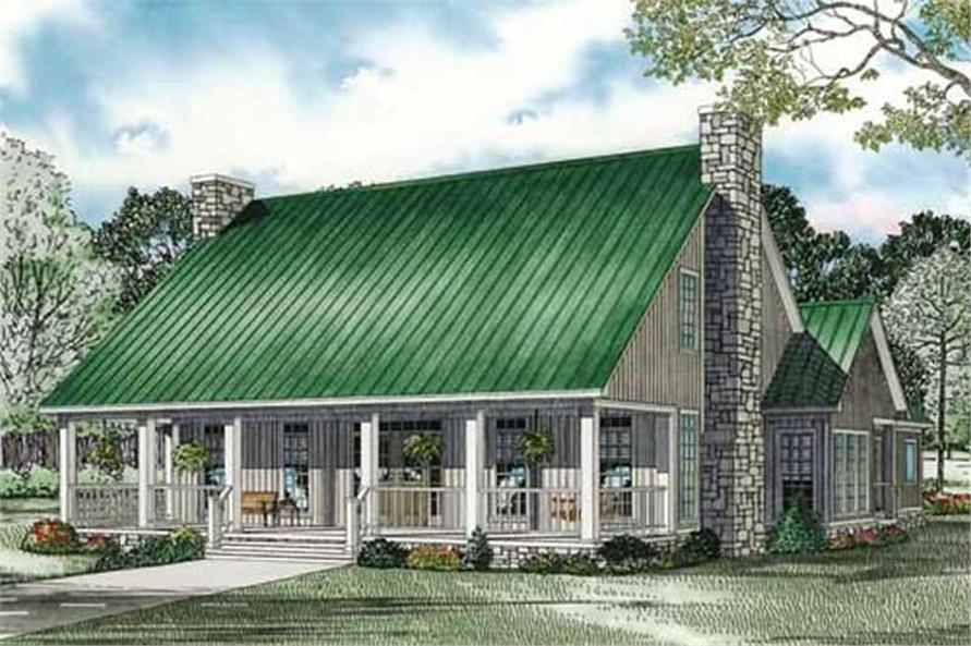 1-Bedroom, 2501 Sq Ft Ranch House Plan - 153-1080 - Front Exterior